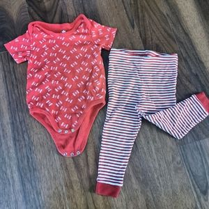 Canada flag red white baby outfit 18-24m